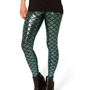 Blackmilk Emerald Green Mermaid Scale Leggings